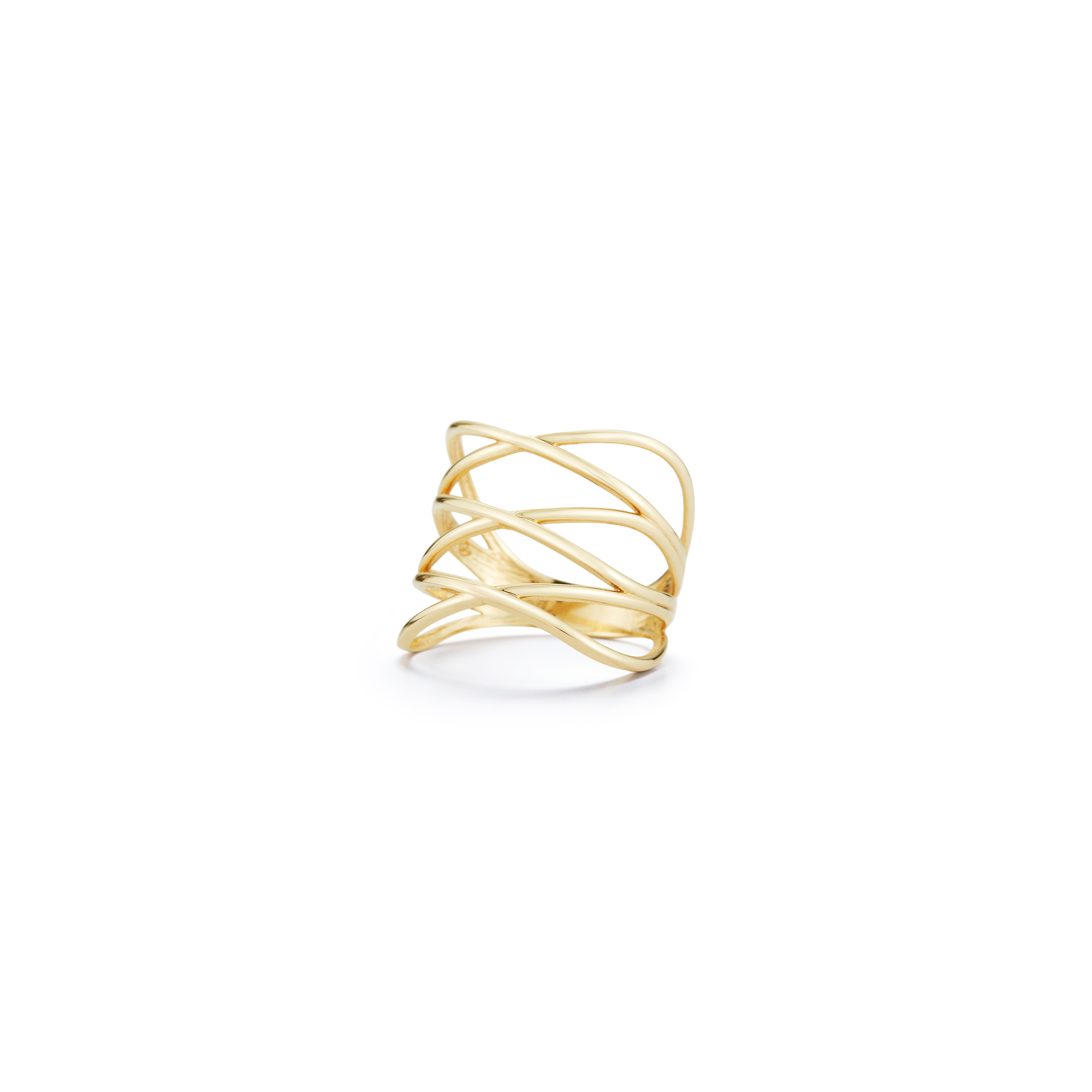 alt:textLondon Collection 14k Wide Crossover Ring