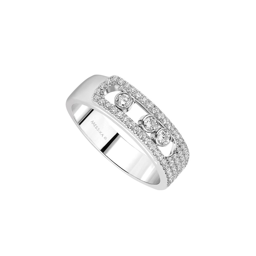 3e002592ab100 Messika Joaillerie Bague Move Noa 18k White Gold Pave Floating Diamond Ring