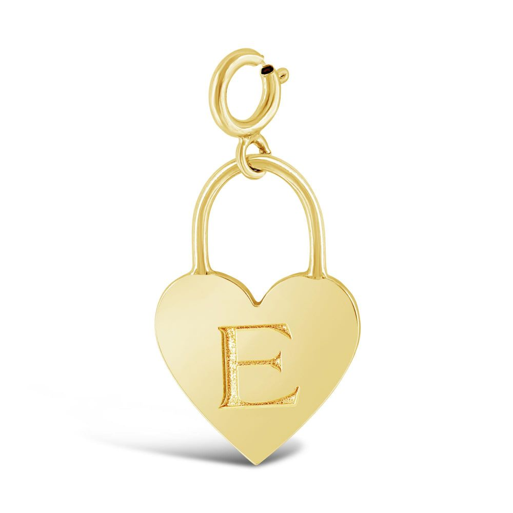 14 kt Yellow Gold 14ky Initial A Charm