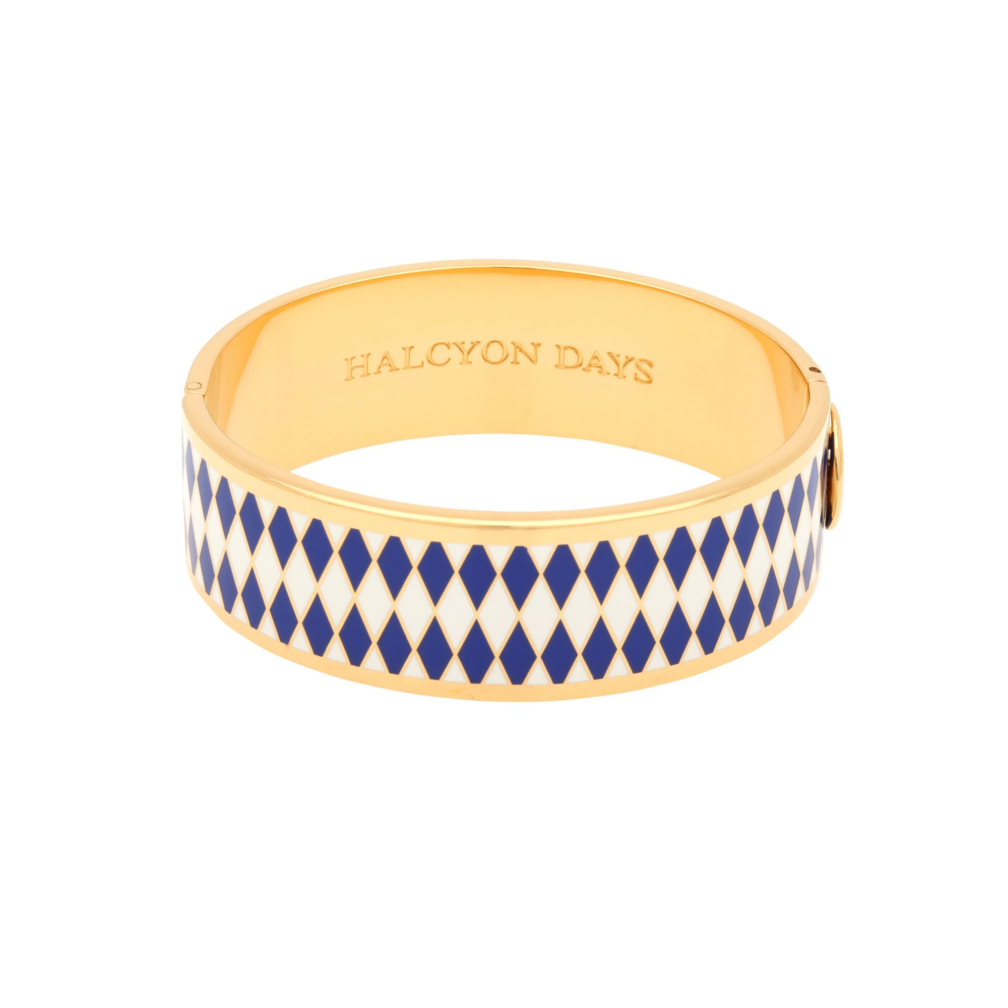 Halcyon Days Parterre Cobalt Cream and Gold Bangle