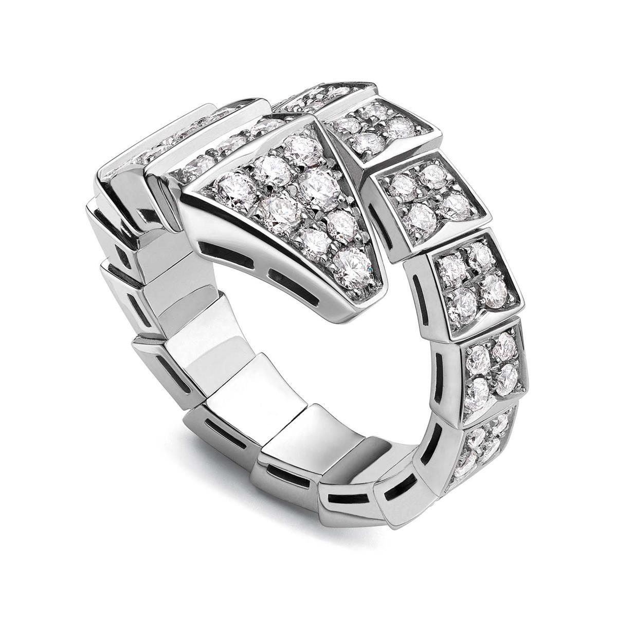 408ca06b26ef7 Configure Bulgari Serpenti Medium White Gold All Diamond Ring