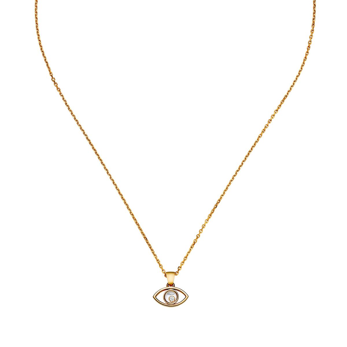 3c60a539f6478 Chopard - Yellow Gold Happy Diamonds Icons Pendant Necklace - at - London  Jewelers