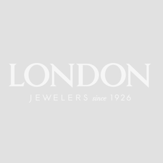 London Collection 18k White Gold Oval Gemstone and Diamond Cluster Ring