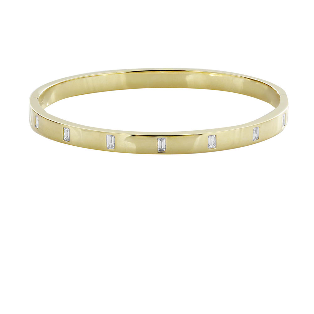 jewelry_London Collection 18k Yellow Gold Baguette Bangle Bracelet