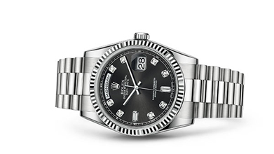 DAY-DATE 36 Oyster, 36 mm, white gold