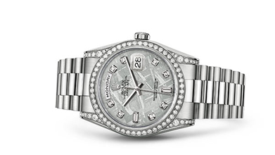 DAY-DATE 36 Oyster, 36 mm, white gold and diamonds