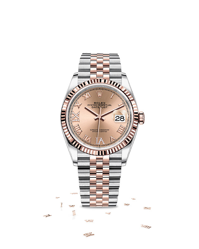 DATEJUST 36 Oyster, 36 mm, Oystersteel and Everose gold