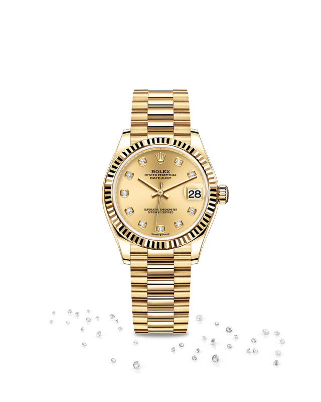DATEJUST 31 Oyster, 31 mm, yellow gold